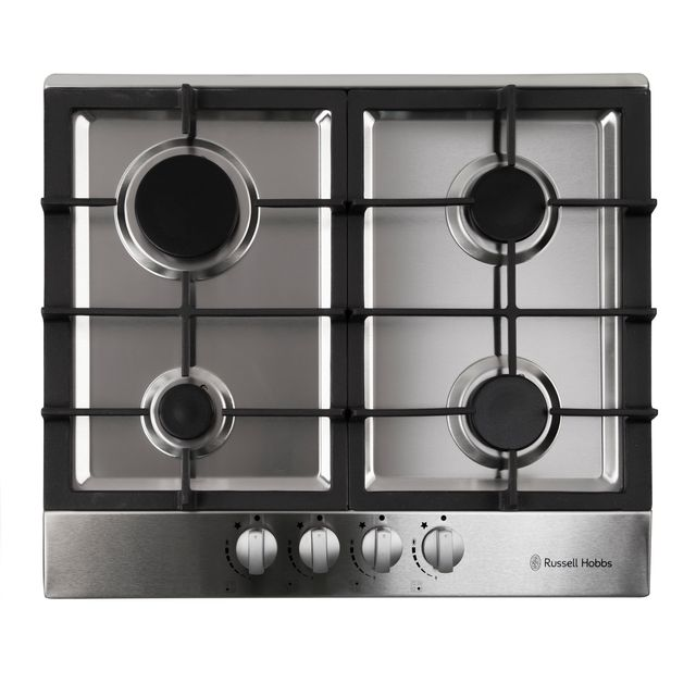 Russell Hobbs RH60GH402SS Built In Gas Hob - Stainless Steel