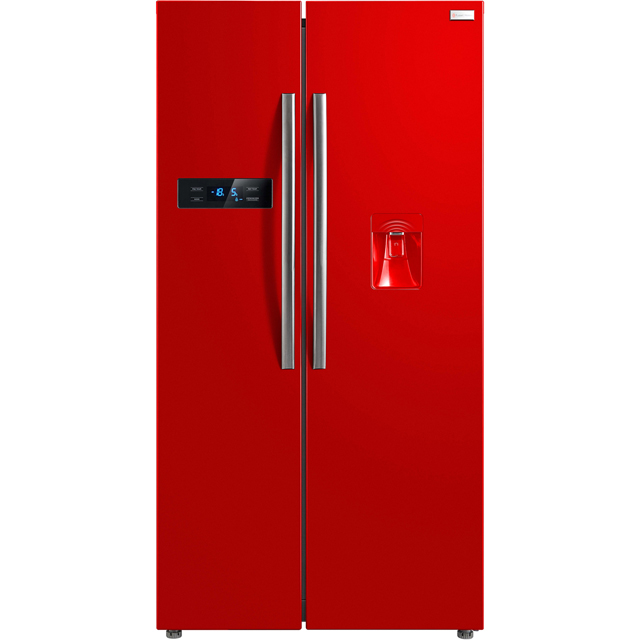 Russell Hobbs RH90FF176R-WD American Fridge Freezer - Red - A+ Rated Best Price, Cheapest Prices