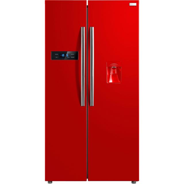 Russell Hobbs MDA RH90FF176R-WD Free Standing American Fridge Freezer in Red