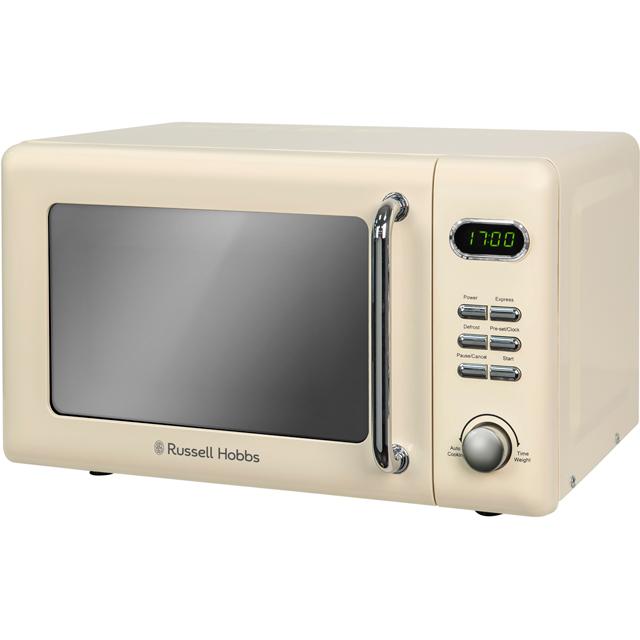Russell Hobbs Microwaves RHRETMD706C Free Standing Microwave Oven in Cream