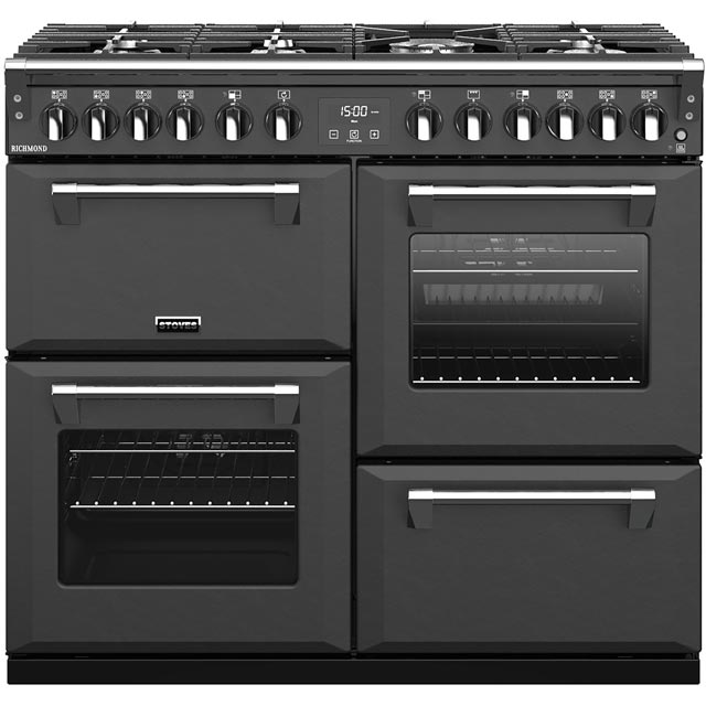 Stoves Richmond S1000DF 100cm Dual Fuel Range Cooker - Anthracite - A/A/A Rated - Richmond S1000DF_AI - 1