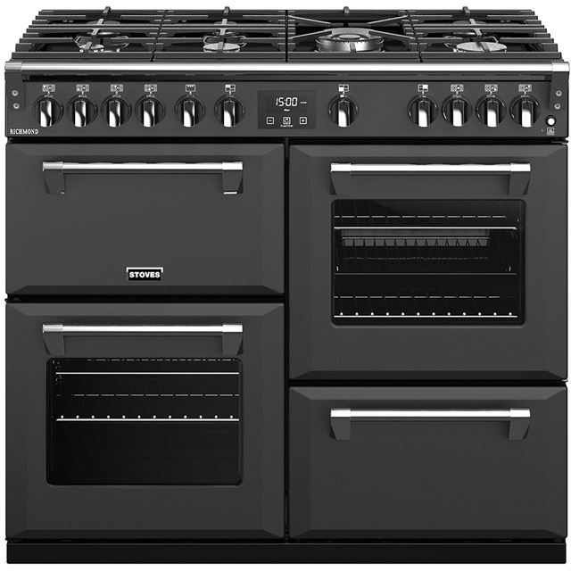 Stoves Richmond S1000G 100cm Gas Range Cooker with Electric Grill - Anthracite - A/A/A+ Rated - Richmond S1000G_AN - 1
