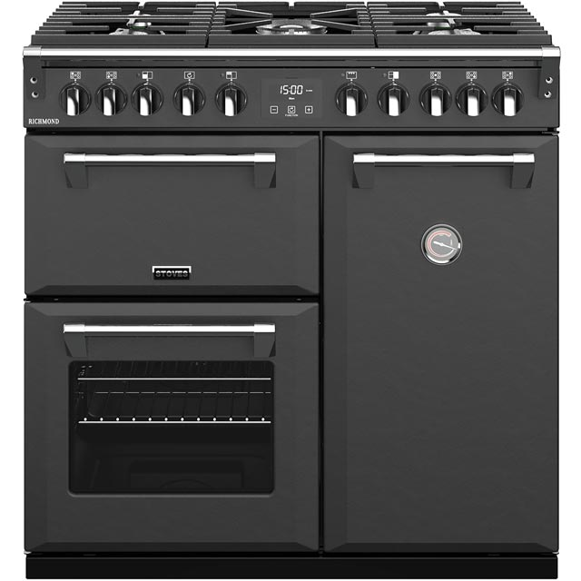 Stoves Richmond S900DF 90cm Dual Fuel Range Cooker - Anthracite - A/A/A Rated - Richmond S900DF_AI - 1