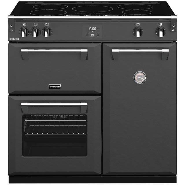 Stoves Richmond S900Ei 90cm Electric Range Cooker with Induction Hob - Anthracite - A/A/A Rated - Richmond S900Ei_AI - 1
