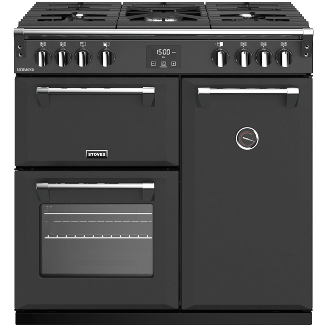 Stoves Richmond S900G 90cm Gas Range Cooker with Electric Fan Oven - Anthracite - A/A Rated - Richmond S900G_AN - 1