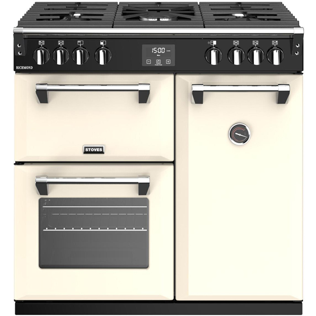 Stoves Richmond S900G 90cm Gas Range Cooker with Electric Fan Oven - Cream - A/A Rated - Richmond S900G_CR - 1