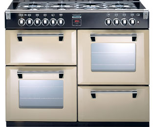 Stoves Richmond RICHMOND1000GT 100cm Gas Range Cooker with Electric Grill - Champagne - A/A/A+ Rated