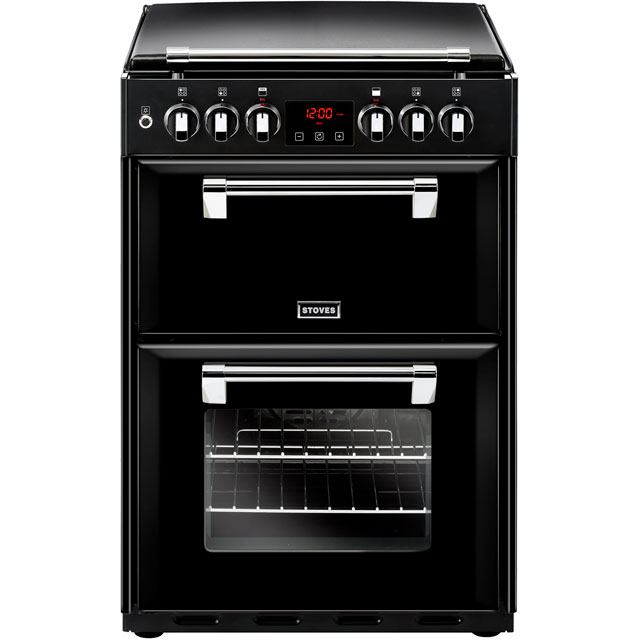 Stoves Dual Fuel Cooker - Black - A/A Rated