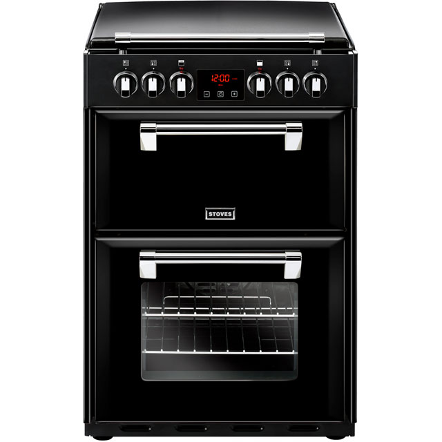 Stoves Richmond600E Electric Cooker with Ceramic Hob - Black - A/A Rated