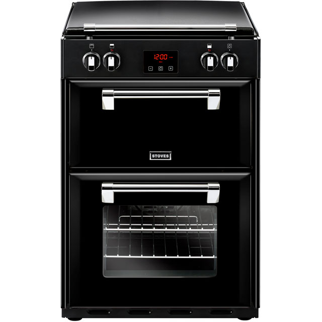 Stoves Electric Cooker with Induction Hob - Black - A/A Rated