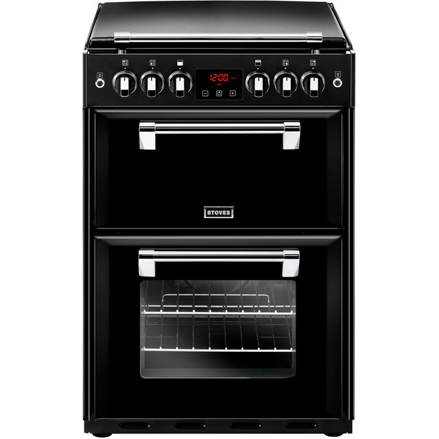 Stoves Richmond600G Gas Cooker with Full Width Electric Grill - Black - A/A Rated