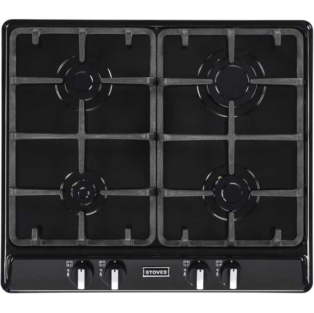 Stoves Richmond600GH 58cm Gas Hob - Black - Richmond600GH_BK - 1