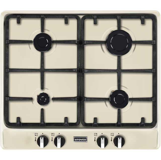 Stoves Richmond600GH 58cm Gas Hob - Cream - Richmond600GH_CR - 1