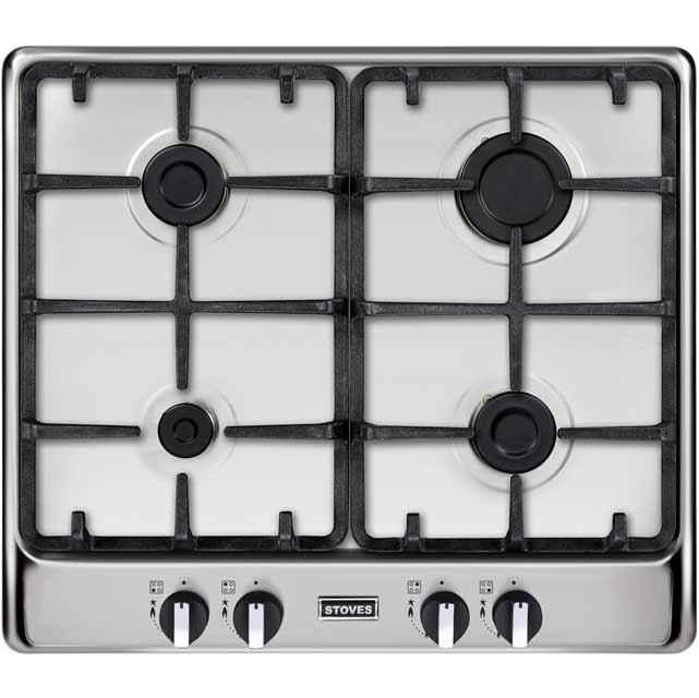 Stoves Richmond600GH 58cm Gas Hob - Stainless Steel - Richmond600GH_SS - 1