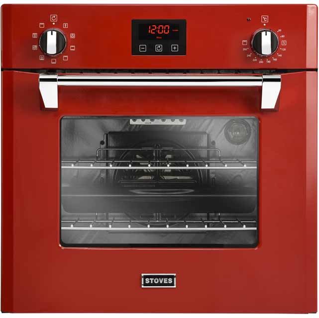 Stoves Richmond600MF Built In Electric Single Oven - Red - A Rated - Richmond600MF_RD - 1