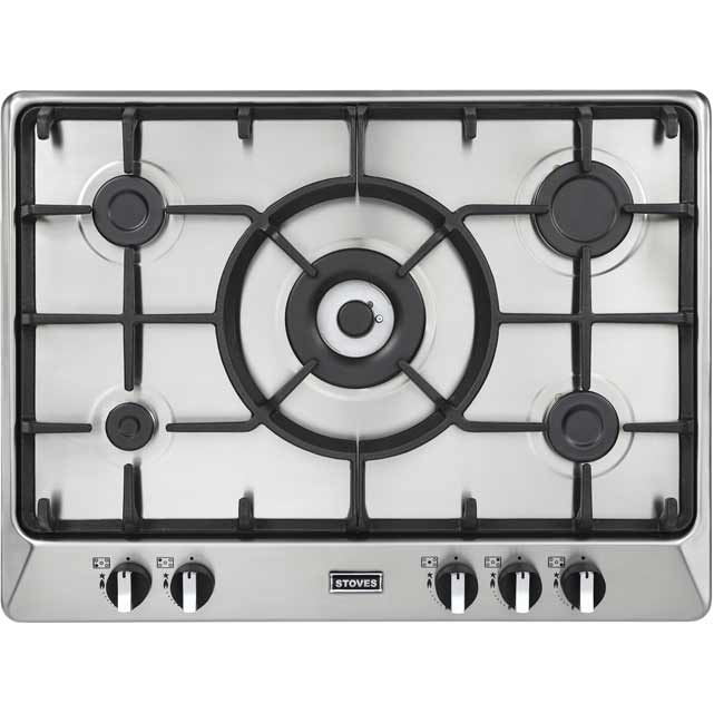Stoves Richmond700GH 68cm Gas Hob - Stainless Steel - Richmond700GH_SS - 1
