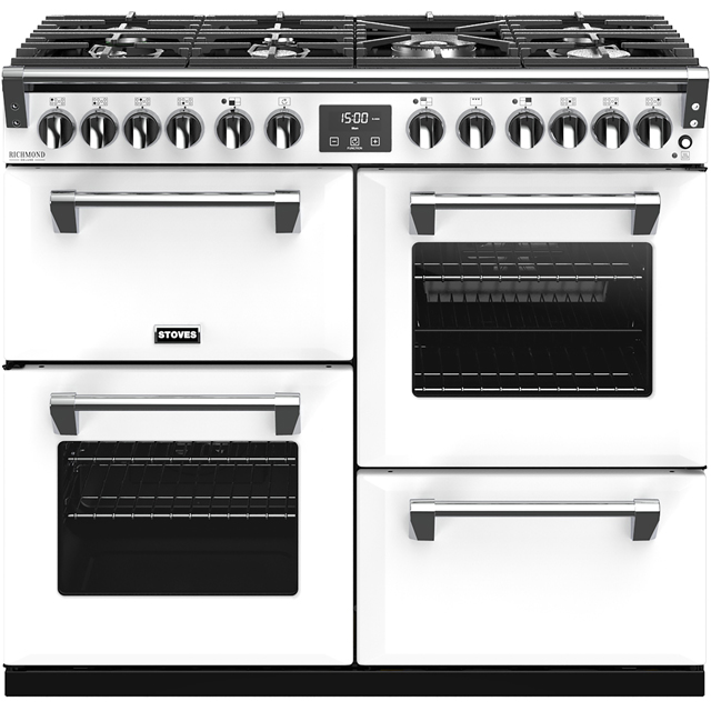 Stoves Colour Boutique Collection Richmond Deluxe S1000DF CB 100cm Dual Fuel Range Cooker - Icy Brook - A/A/A Rated - Richmond Deluxe S1000DF CB_IB - 1