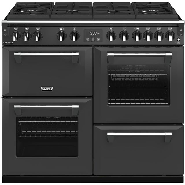 Stoves Colour Boutique Collection 100cm Dual Fuel Range Cooker - Anthracite - A/A/A Rated