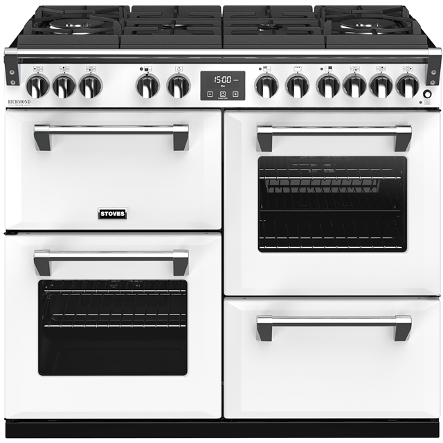 Stoves Colour Boutique Collection Richmond Deluxe S1000DF GTG CB 100cm Dual Fuel Range Cooker - Icy Brook - A/A/A Rated - Richmond Deluxe S1000DF GTG CB_IB - 1