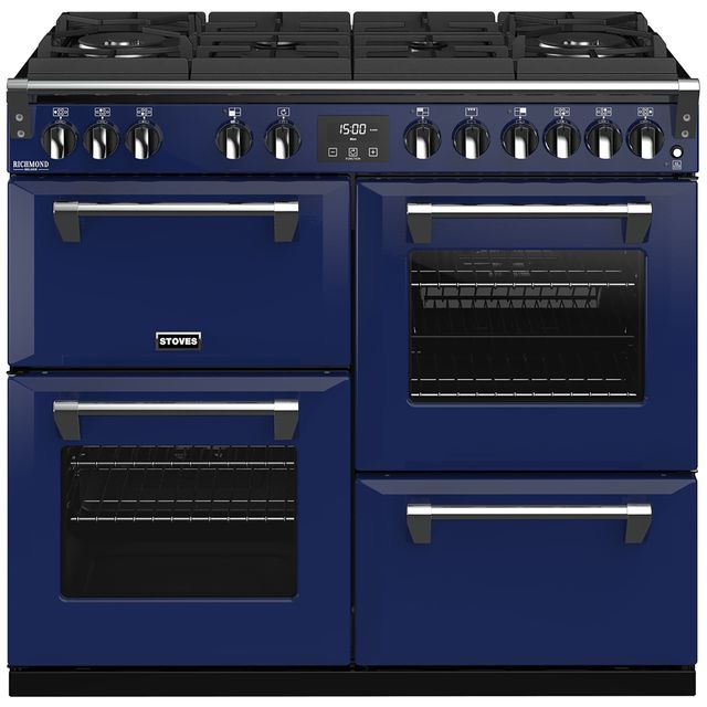 Stoves Colour Boutique Collection 100cm Dual Fuel Range Cooker - Midnight Gaze - A/A/A Rated