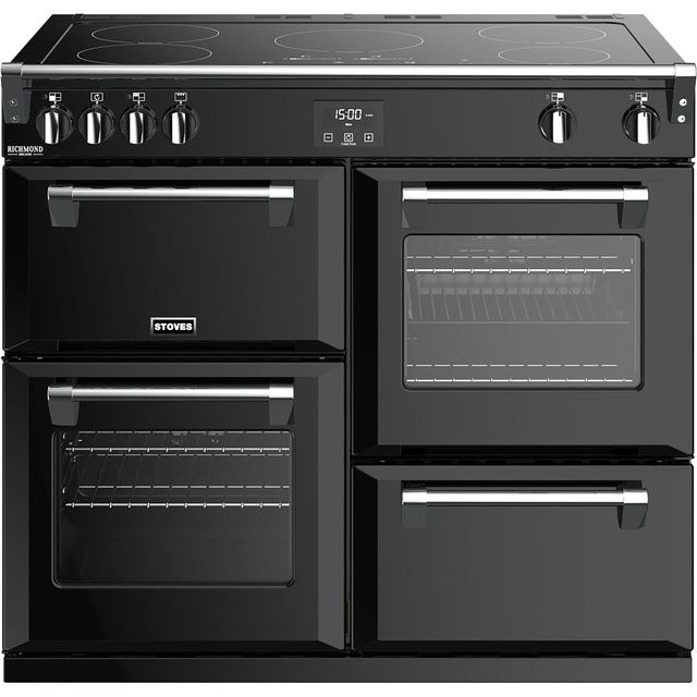 Stoves 100cm Electric Range Cooker with Induction Hob - Black - A/A/A Rated