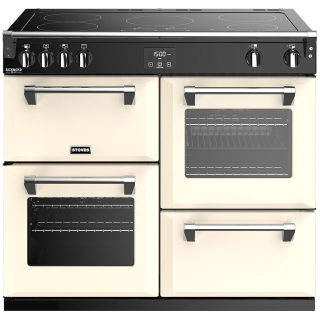 Stoves Richmond Deluxe S1000EI 100cm Electric Range Cooker with Induction Hob - Cream - A/A/A Rated