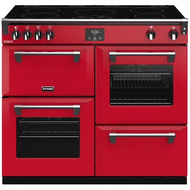 Stoves Colour Boutique Collection 100cm Electric Range Cooker with Induction Hob - Hot Jalapeno - A/A/A Rated