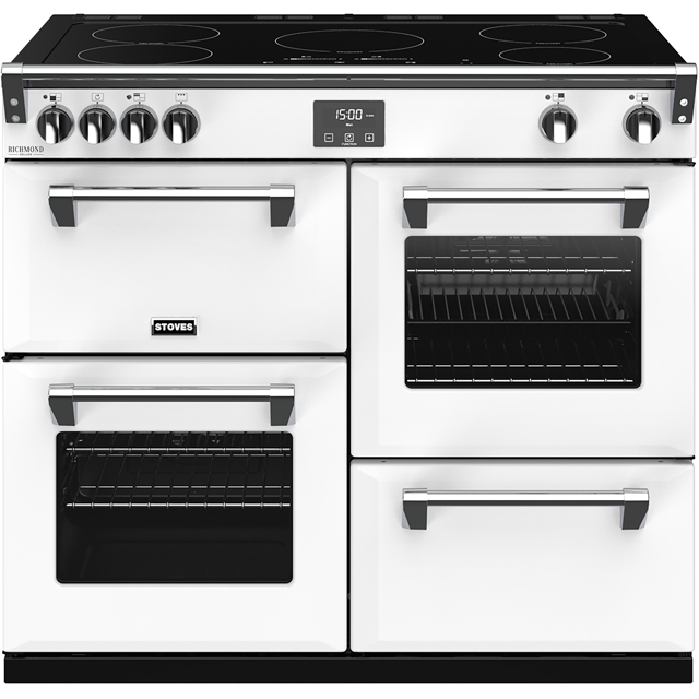 Stoves Colour Boutique Collection Richmond Deluxe S1000Ei CB 100cm Electric Range Cooker with Induction Hob - Icy Brook - A/A/A Rated - Richmond Deluxe S1000Ei CB_IB - 1