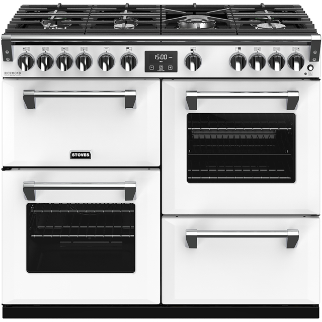 Stoves Colour Boutique Collection Richmond Deluxe S1000G CB 100cm Gas Range Cooker with Electric Grill - Icy Brook - A+/A/A Rated - Richmond Deluxe S1000G CB_IB - 1