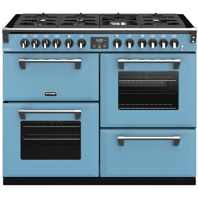 Stoves Colour Boutique Collection Richmond Deluxe S1100DF CB 110cm Dual Fuel Range Cooker - Days Break - A/A/A Rated - Richmond Deluxe S1100DF CB_DB - 1