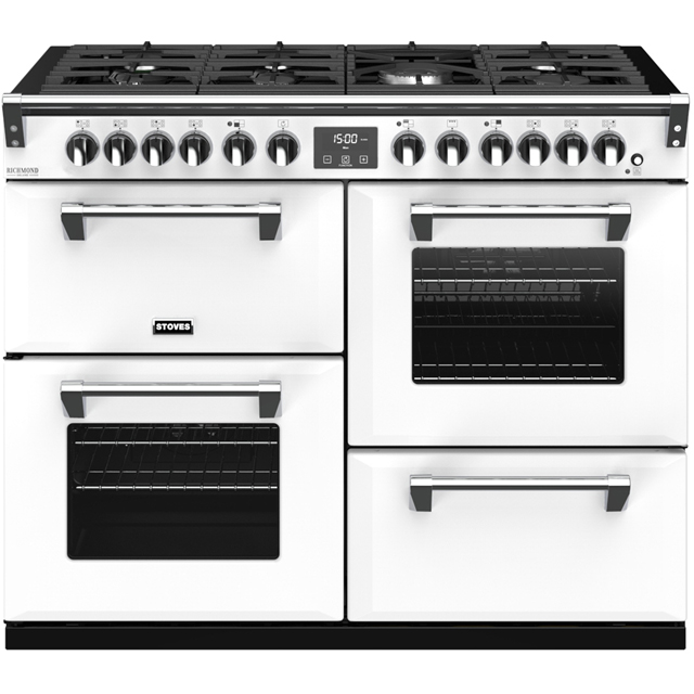 Stoves Colour Boutique Collection Richmond Deluxe S1100DF CB 110cm Dual Fuel Range Cooker - Icy Brook - A/A/A Rated - Richmond Deluxe S1100DF CB_IB - 1