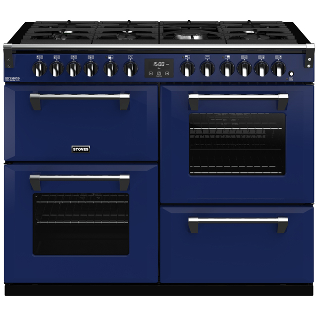 Stoves Colour Boutique Collection Richmond Deluxe S1100DF CB 110cm Dual Fuel Range Cooker - Midnight Gaze - A/A/A Rated - Richmond Deluxe S1100DF CB_MG - 1