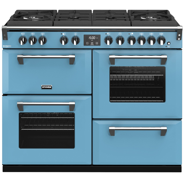 Stoves Colour Boutique Collection Richmond Deluxe S1100DF GTG CB 110cm Dual Fuel Range Cooker - Days Break - A/A/A Rated - Richmond Deluxe S1100DF GTG CB_DB - 1