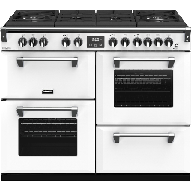 Stoves Colour Boutique Collection Richmond Deluxe S1100DF GTG CB 110cm Dual Fuel Range Cooker - Icy Brook - A/A/A Rated - Richmond Deluxe S1100DF GTG CB_IB - 1