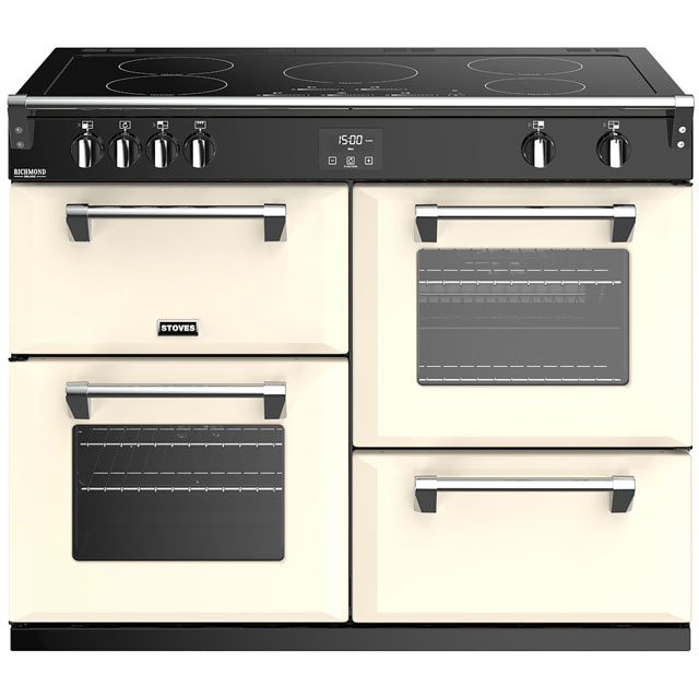 Stoves Richmond Deluxe S1100EI 110cm Electric Range Cooker with Induction Hob - Cream - A/A/A Rated - Richmond Deluxe S1100EI_CR - 1