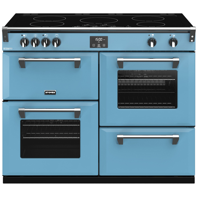 Stoves Colour Boutique Collection Richmond Deluxe S1100Ei CB 110cm Electric Range Cooker with Induction Hob - Days Break - A/A/A Rated - Richmond Deluxe S1100Ei CB_DB - 1