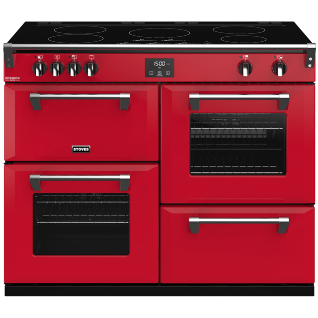Stoves Colour Boutique Collection 110cm Electric Range Cooker with Induction Hob - Hot Jalapeno - A/A/A Rated