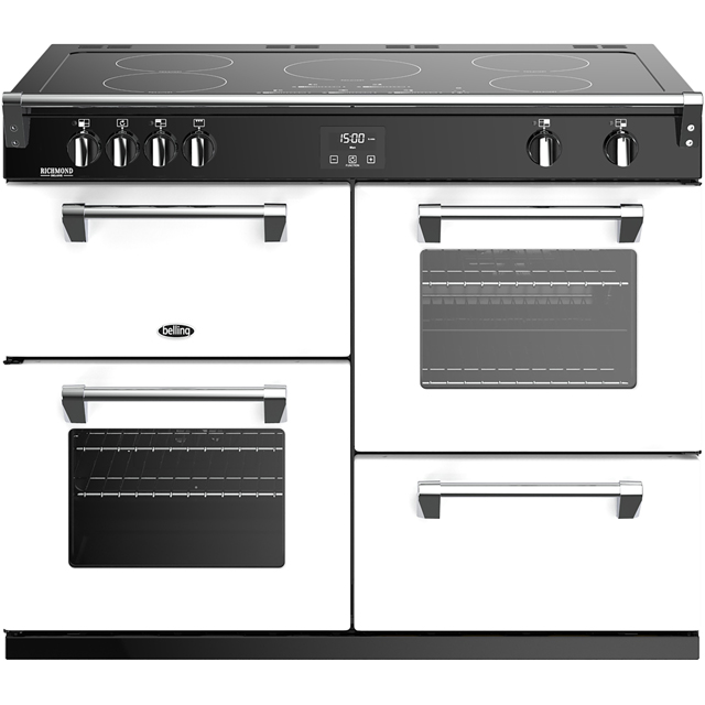 Stoves Colour Boutique Collection Richmond Deluxe S1100Ei CB 110cm Electric Range Cooker with Induction Hob - Icy Brook - A/A/A Rated - Richmond Deluxe S1100Ei CB_IB - 1