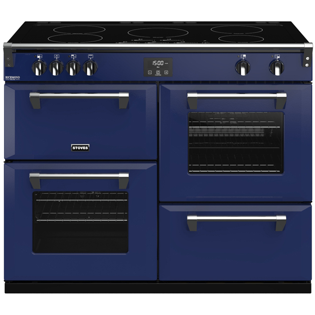Stoves Colour Boutique Collection Richmond Deluxe S1100Ei CB 110cm Electric Range Cooker with Induction Hob - Midnight Gaze - A/A/A Rated - Richmond Deluxe S1100Ei CB_MG - 1