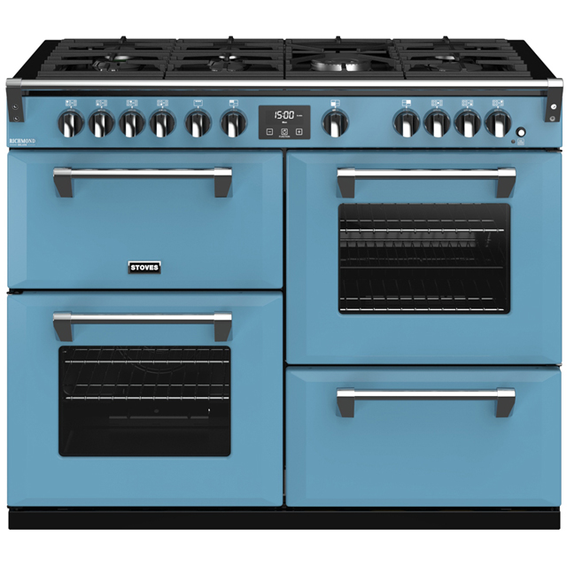 Stoves Colour Boutique Collection Richmond Deluxe S1100G CB 110cm Gas Range Cooker with Electric Grill - Days Break - A/A/A Rated - Richmond Deluxe S1100G CB_DB - 1