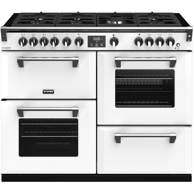 Stoves Colour Boutique Collection Richmond Deluxe S1100G CB 110cm Gas Range Cooker with Electric Grill - Icy Brook - A/A/A Rated - Richmond Deluxe S1100G CB_IB - 1
