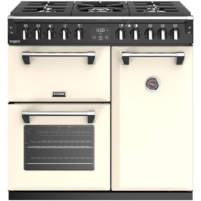 Stoves Richmond Deluxe S900DF 90cm Dual Fuel Range Cooker - Cream - A/A/A Rated - Richmond Deluxe S900DF_CR - 1