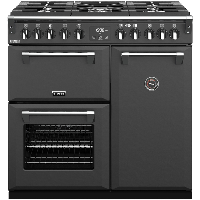Stoves Colour Boutique Collection Richmond Deluxe S900DF CB 90cm Dual Fuel Range Cooker - Anthracite - A/A/A Rated - Richmond Deluxe S900DF CB_AN - 1