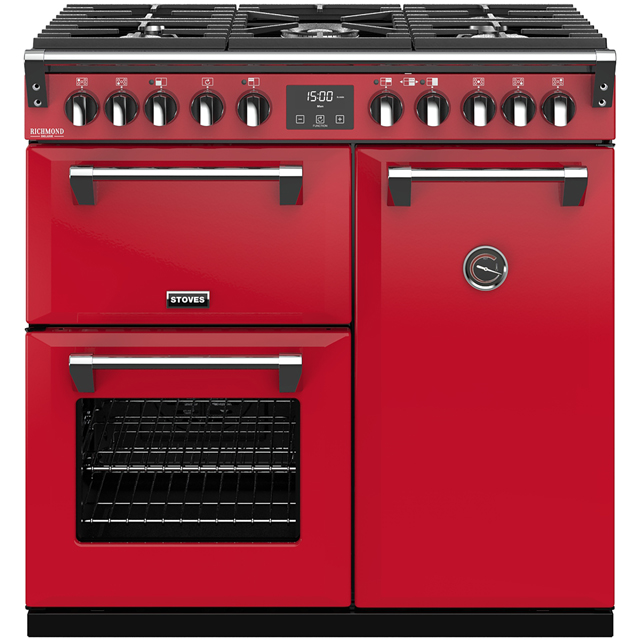 Stoves Colour Boutique Collection Richmond Deluxe S900DF CB 90cm Dual Fuel Range Cooker - Hot Jalapeno - A/A/A Rated - Richmond Deluxe S900DF CB_HJA - 1