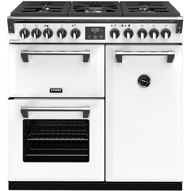 Stoves Colour Boutique Collection Richmond Deluxe S900DF CB 90cm Dual Fuel Range Cooker - Icy Brook - A/A/A Rated - Richmond Deluxe S900DF CB_IB - 1