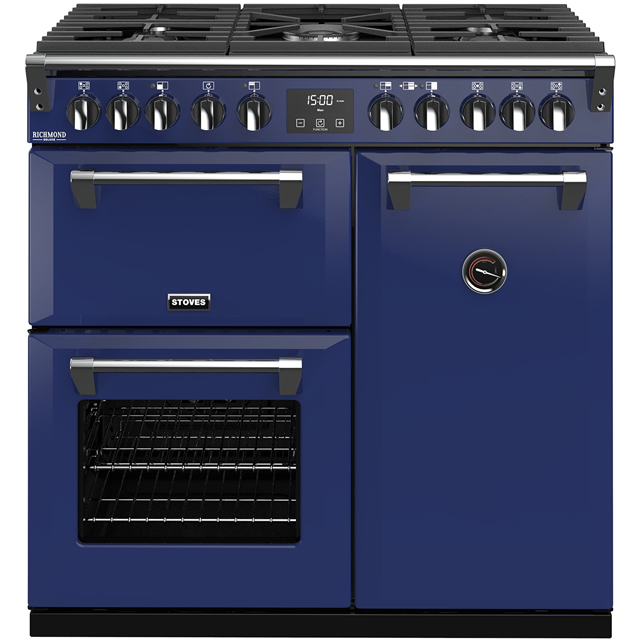 Stoves Colour Boutique Collection Richmond Deluxe S900DF CB 90cm Dual Fuel Range Cooker - Midnight Gaze - A/A/A Rated - Richmond Deluxe S900DF CB_MG - 1