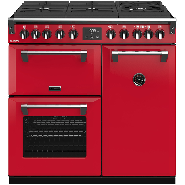 Stoves Colour Boutique Collection Richmond Deluxe S900DF GTG CB 90cm Dual Fuel Range Cooker - Hot Jalapeno - A/A/A Rated - Richmond Deluxe S900DF GTG CB_HJA - 1