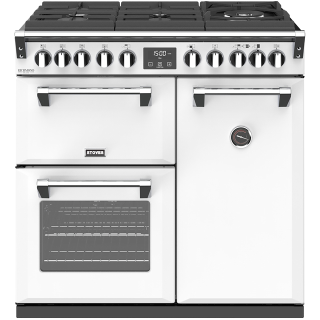 Stoves Colour Boutique Collection Richmond Deluxe S900DF GTG CB 90cm Dual Fuel Range Cooker - Icy Brook - A/A/A Rated - Richmond Deluxe S900DF GTG CB_IB - 1