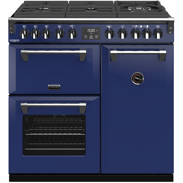 Stoves Colour Boutique Collection Richmond Deluxe S900DF GTG CB 90cm Dual Fuel Range Cooker - Midnight Gaze - A/A/A Rated - Richmond Deluxe S900DF GTG CB_MG - 1