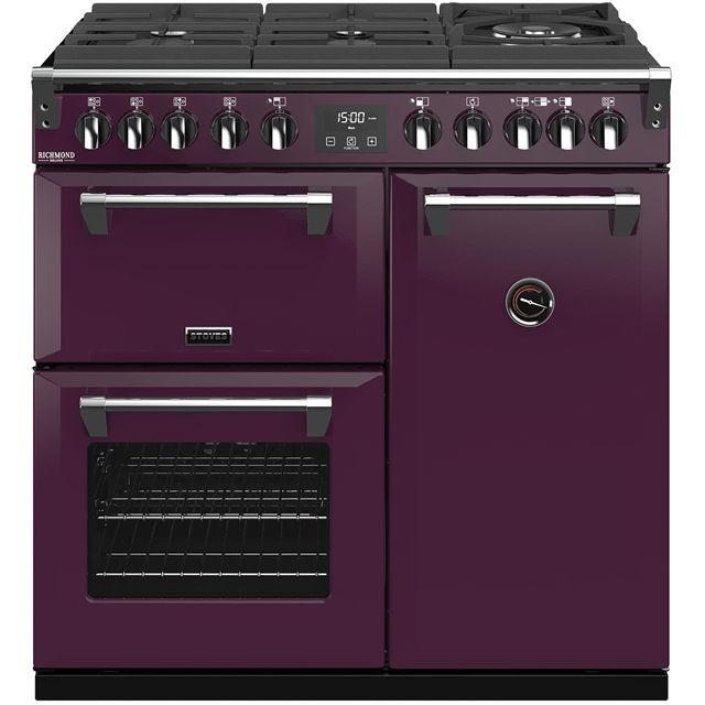 Stoves Colour Boutique Collection Richmond Deluxe S900DF GTG CB 90cm Dual Fuel Range Cooker - Wild Berry - A/A/A Rated - Richmond Deluxe S900DF GTG CB_WB - 1